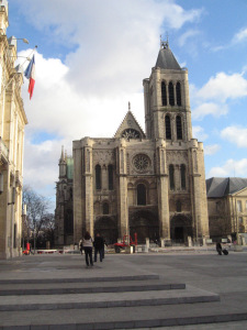The imposing Cathedral of Saint Denis on the north side of Paris