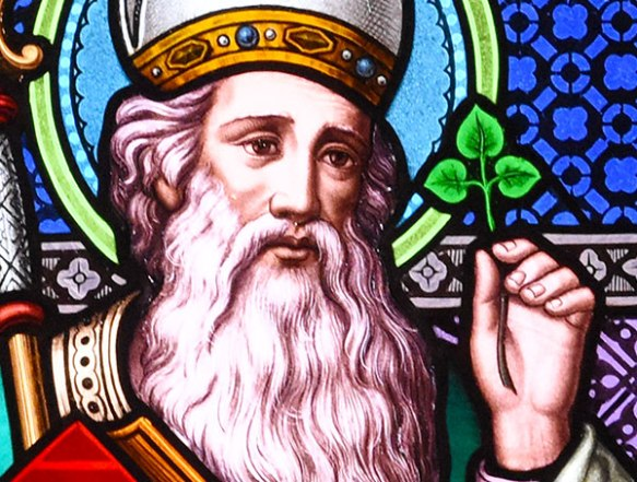 Image result for saint patrick stained glass